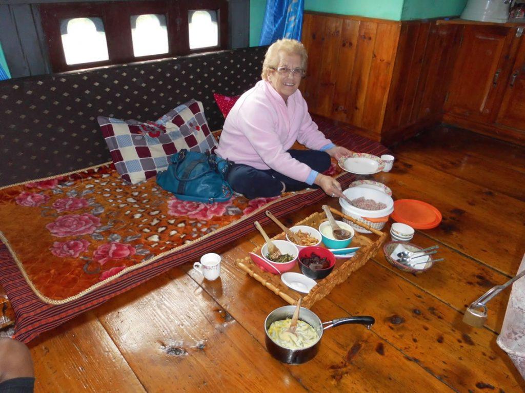 Lunch at a farmhouse in Haa Bhutan
