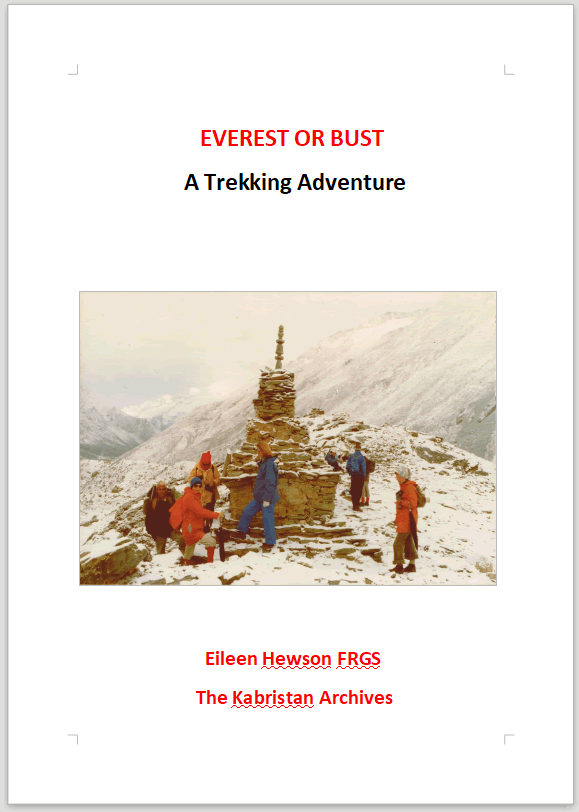 EVEREST OR BUST A Trekking Adventure