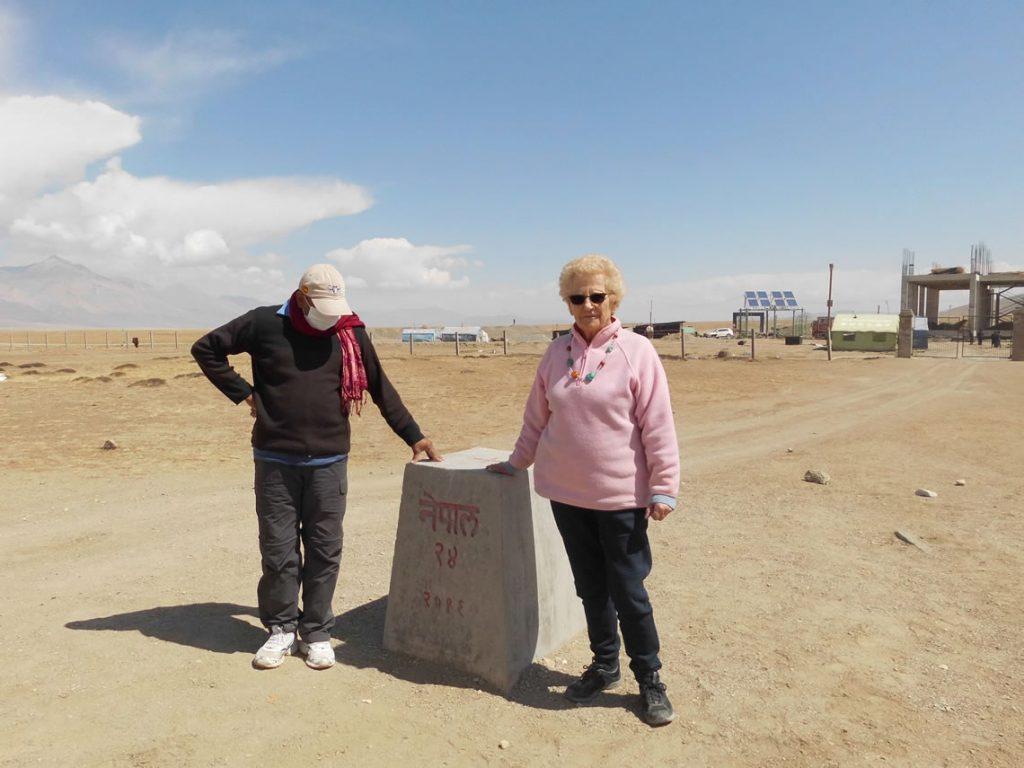 The border between Mustang and Tibet